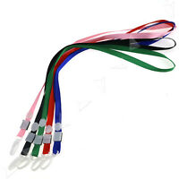 20 PCS Lanyard Neck Strap With Strong Metal Clip ID Card Pass Holder 5 Colors
