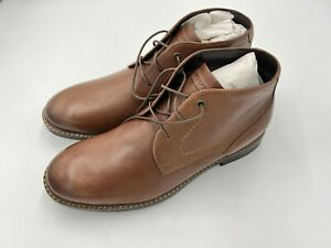 Rockport Classic Break Chukka Lace-Up Ankle Boots Mens 10.5W Dark Brown Leather