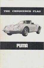 Puma GTE Coupe & 1600 Spyder 1972-73 UK Market Foldout Sales Brochure