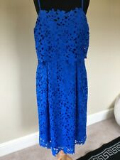 Somerset By Alice Temperley Royal Blue Lace Overlay Spaghetti Strap Dress size16