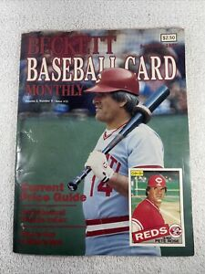 Beckett Baseball Card Monthly Volume 2, Number 9 - Issue 11 Pete Rose 1985