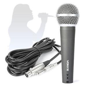 DM58 Dynamic Handheld Microphone with XLR Lead Metal Bodied PA DJ Vocal Mic