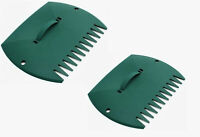 2 X Große Blatt Griff Grün Hände - Blatt Grabber Schaufel Blätter Plastik Griff