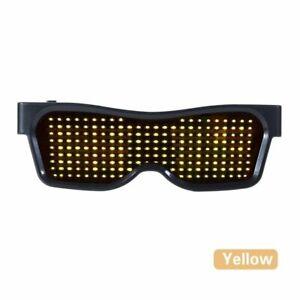 DJ LED Glasses Light Up Glow Flashing Sunglasses Eyewear Nightclub Party USB New