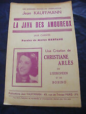 Partition La java des amoureux Christiane Arlès Jean Kauffmann Music Sheet