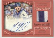 2016 TOPPS GYPSY QUEEN YASMANI GRANDAL ON CARD AUTO #'D 1/5 JERSEY RELIC DODGERS