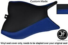 BLACK R BLUE VINYL CUSTOM FOR HONDA CB 1000 R 08-13 FRONT RIDER SEAT COVER ONLY