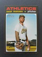 2020 Topps Heritage Baseball Card - No 248 - Sean Manaea - Oakland Athletics
