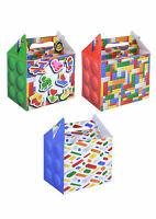 6 Bricks Party Boxes - Toy Loot/Party Bag Fillers Kids Food Meal Lunch Building