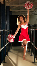 IN STOCK Cheer Leader Red & White Lycra Dress Dance Costume 3 Adult Small