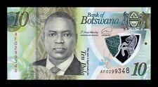 B-D-M Botswana 10 Pula Mokgweetsi Masisi 2020 (2021) Pick New Polymer SC UNC