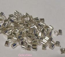 1000 Pcs 2mm Silver Crimp Bead Tubes -  Crimps TS422