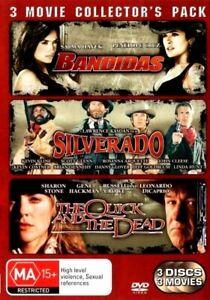 BANDIDAS / SILVERADO / THE QUICK AND THE DEAD New 3 Dvd Collection ***