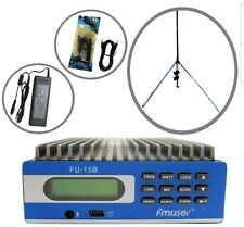 fmuser Fu-15b 0w-15w Pro Premium Pc Control Fm Transmitter with Gp100 Antenna