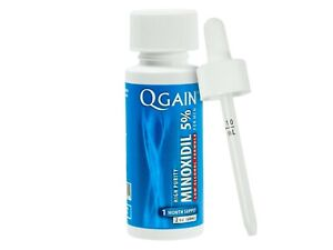 Qgain High Purity Minoxidil 5% for MEN Low Alcohol Formula 1 month supply