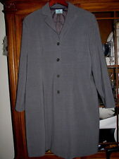 Grey gray maternity coat ladies size 3 winter lined jacket dress topcoat fall