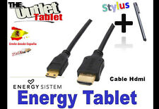 **Cable mini hdmi a hdmi para Tablet Energy System S7 S8 S9 S10