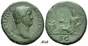 AC&B-1270. Roman Empire. Hadrian augustus, 117-138. As
