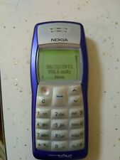 NOKIA 1100B TYPE:RH-36 CELL PHONE. Blue/Silver