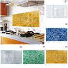 Aluminum Foil Mosaic Wall Sticker Anti-Oil WaterProof Kitchen Room Paper Decor