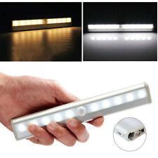 10 LED Lampe PIR Detecteur de Mouvement Sans fil Pour Armoire Tiroir Cabinet FR