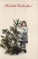BG14774 girl with fir  weihnachten christmas  germany