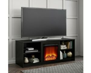 """Fire Place Tv Stand For Tv's up to 65"""" inch Available in 4 colors"""