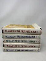 Messages of the First Presidency Vol 1-5 by James R. Clark Mormon LDS HB/DJ