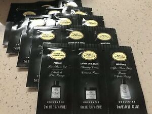 5X THE ART of SHAVING Pre Shave Oil, Shaving Cream, AfterShave Balm Samples Set