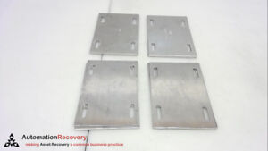 """COOPER B-LINE R4A-SSP - PACK OF 4/PAIRS, SPLICE PLATE, 1/4"""" HARDWARE, SE #254566"""