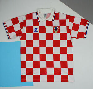 Vintage 1995 - 1996 Croatia Home Football Shirt Jersey (size XL)