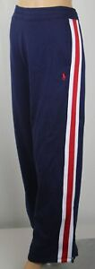 Polo Ralph Lauren Navy Blue Red White Fleece Sweatpants Pockets NWT