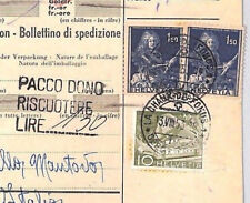 AN433 1953 ITALY *Pacco Dono*Cachet 70 Lire Postage Dues SWITZERLAND PARCEL POST