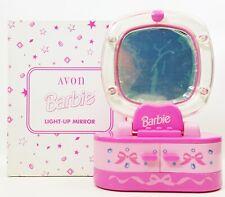 Avon Barbie Light Up Mirror With Two Drawers NIB