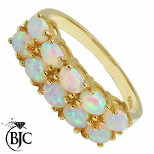 Echte Edelstein-Ringe aus Gelbgold mit Opal für Geburtstag