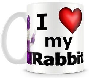 I Love Heart my Rabbit Mug joke fun sexy gift hen night