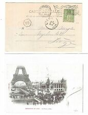 41) 1900 World Exhibition during Olympic Games card machine cancel Paris Expo