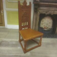 Dolls House Quarlity Furniture  Gothic Side Chair    J01071WN