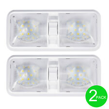 2x 12V New RV Interior Led Ceiling Light Boat Camper Trailer Single Dome