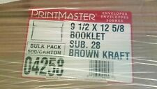 Booklet Envelopes Brown Kraft 28 Lb Size 9 12 X 12 58 Qty 500 Count 04258