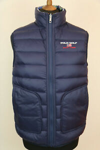 Polo Ralph Lauren Golf Mens Navy Down Reversible Quilted Gilet  Waistcoat size L