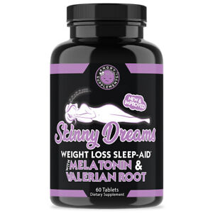Angry Supplements Skinny Dreams Women's Weight Loss + Sleep Aid w. Melatonin 1pk