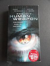 PROJECT HUMAN WEAPON  (2001 BLOCKBUSTER VIDEO VHS TAPE) JUDGE REINHOLD