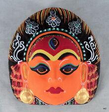 Exquisite Detail Kumari Cultural Deity Paper Mache Mask -Handpainted in Nepal