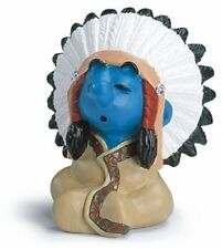 CHIEF AMERICAN INDIAN SMURF from 2007 by SCHLEICH THE SMURFS - 20556