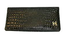 Vintage CHANEL Made In Paris Black Leather Folding Wallet