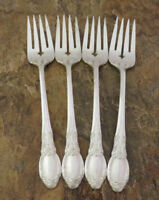 Oneida Park Lane 4 Salad Forks Wm A Rogers Vintage Silverplate Flatware Lot F
