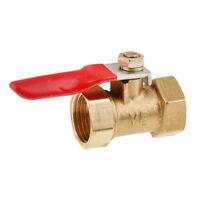 3/8'' F/F Full Port Inline Brass Water Air Gas Fuel Line Shut-off Ball Valve