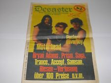 Desaster - Total Rock Magazine 3 1983 Motorhead Germany RARE