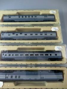 N Scale ConCor NYC 4 Smooth Side Passenger Cars